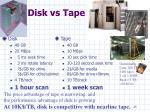 disk vs tape