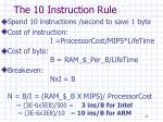 the 10 instruction rule