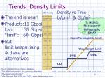 trends density limits