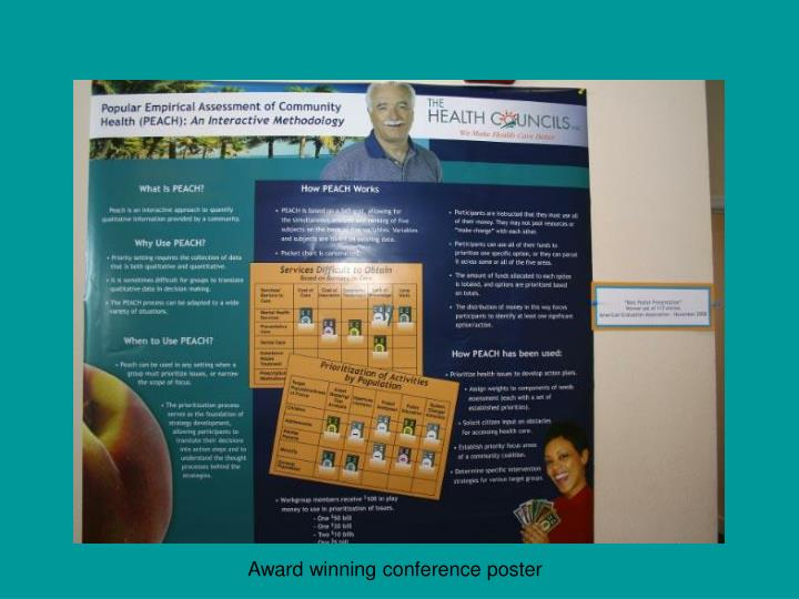 Award winning conference poster