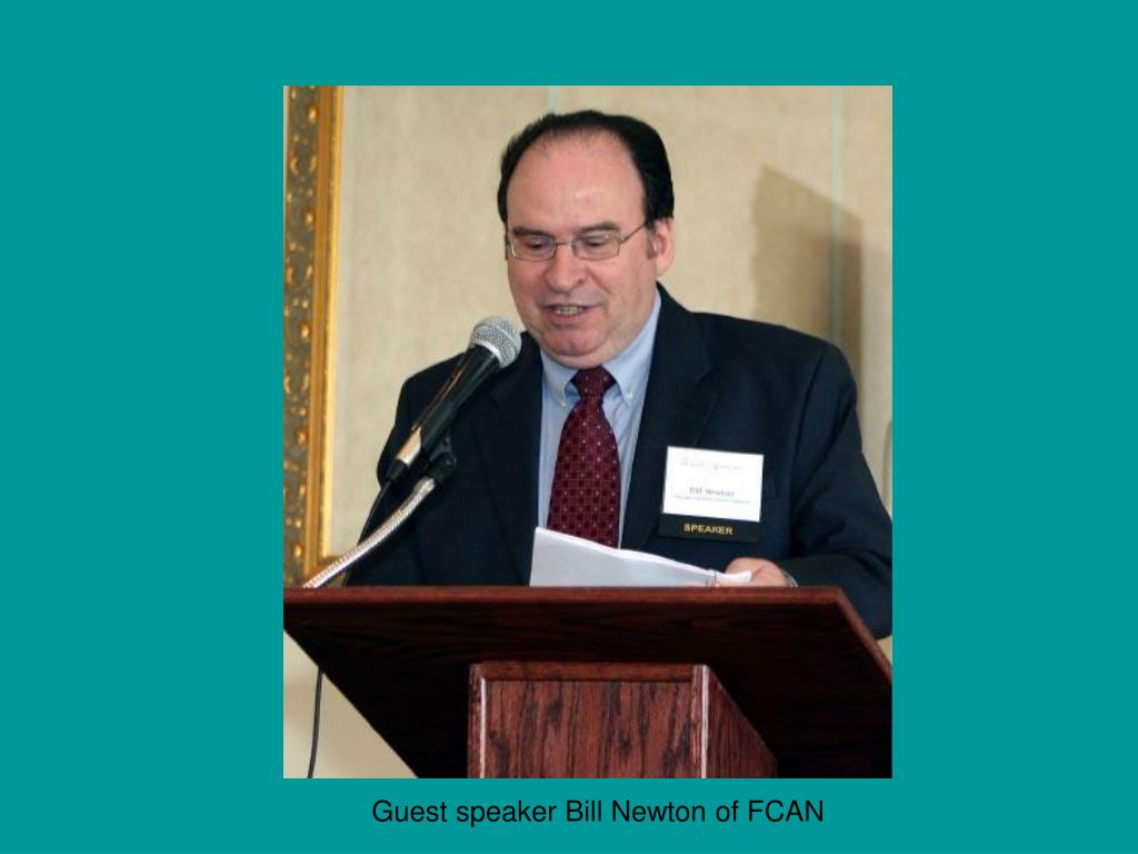 Guest speaker Bill Newton of FCAN
