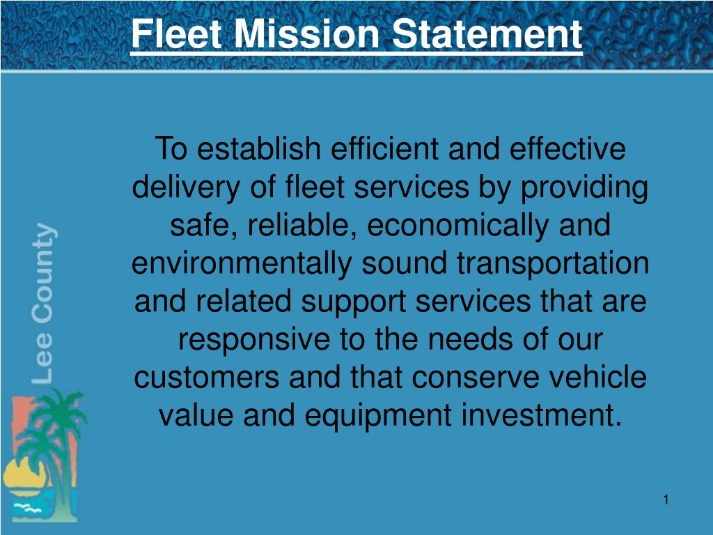 fleet mission statement l.