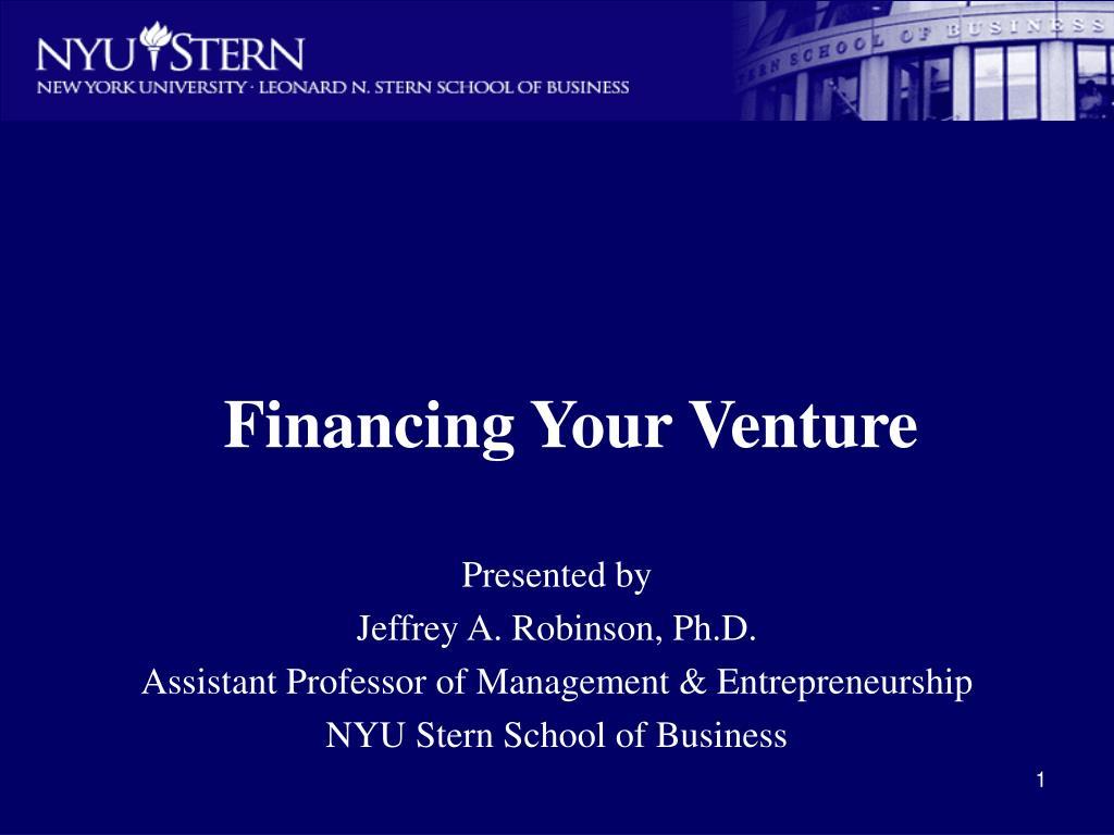 financing your venture