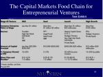 the capital markets food chain for entrepreneurial ventures