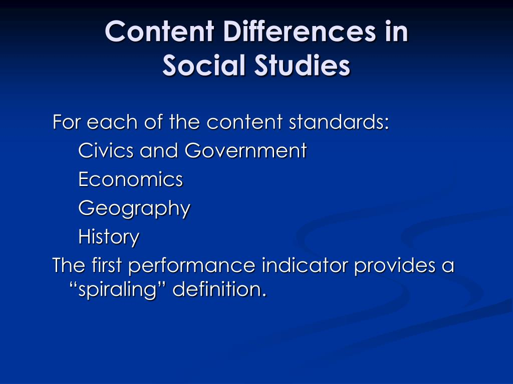 Content Differences in