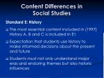 content differences in social studies32