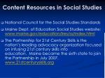content resources in social studies
