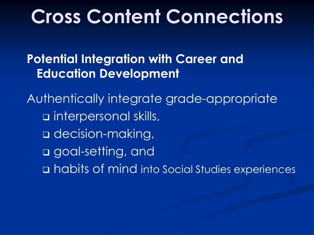 Cross Content Connections