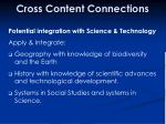 cross content connections43