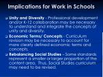 implications for work in schools36