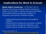 implications for work in schools37