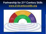 partnership for 21 st century skills www 21stcenturyskills org