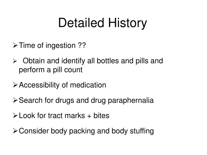 Detailed History