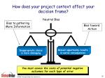 how does your project context affect your decision frame