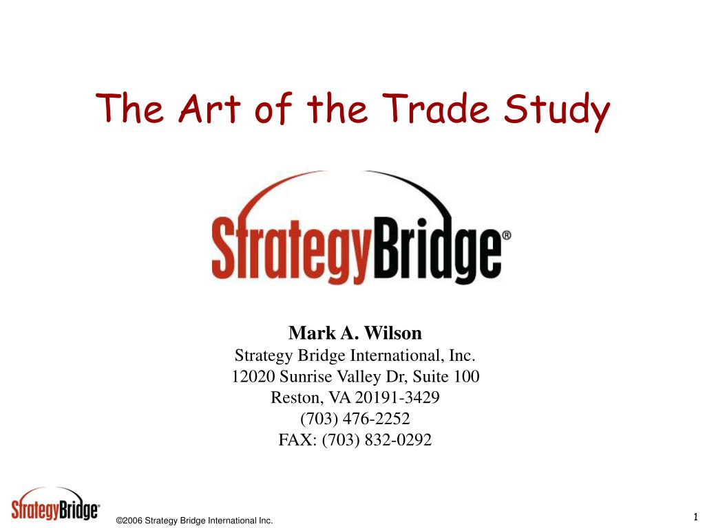 the art of the trade study l.