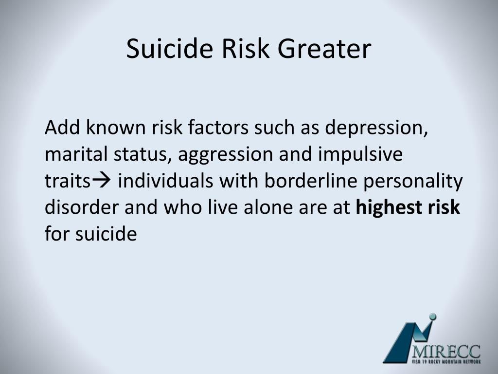 borderline personality disorder and known risk