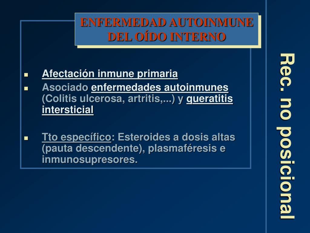 ENFERMEDAD AUTOINMUNE DEL OÍDO INTERNO