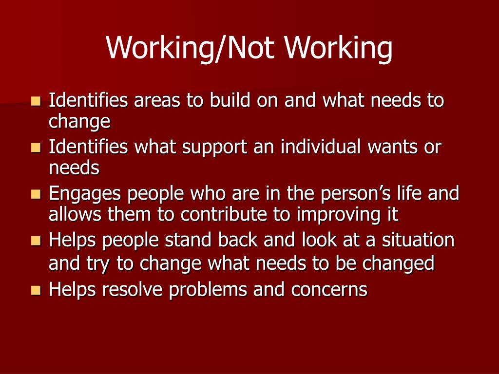 Working/Not Working