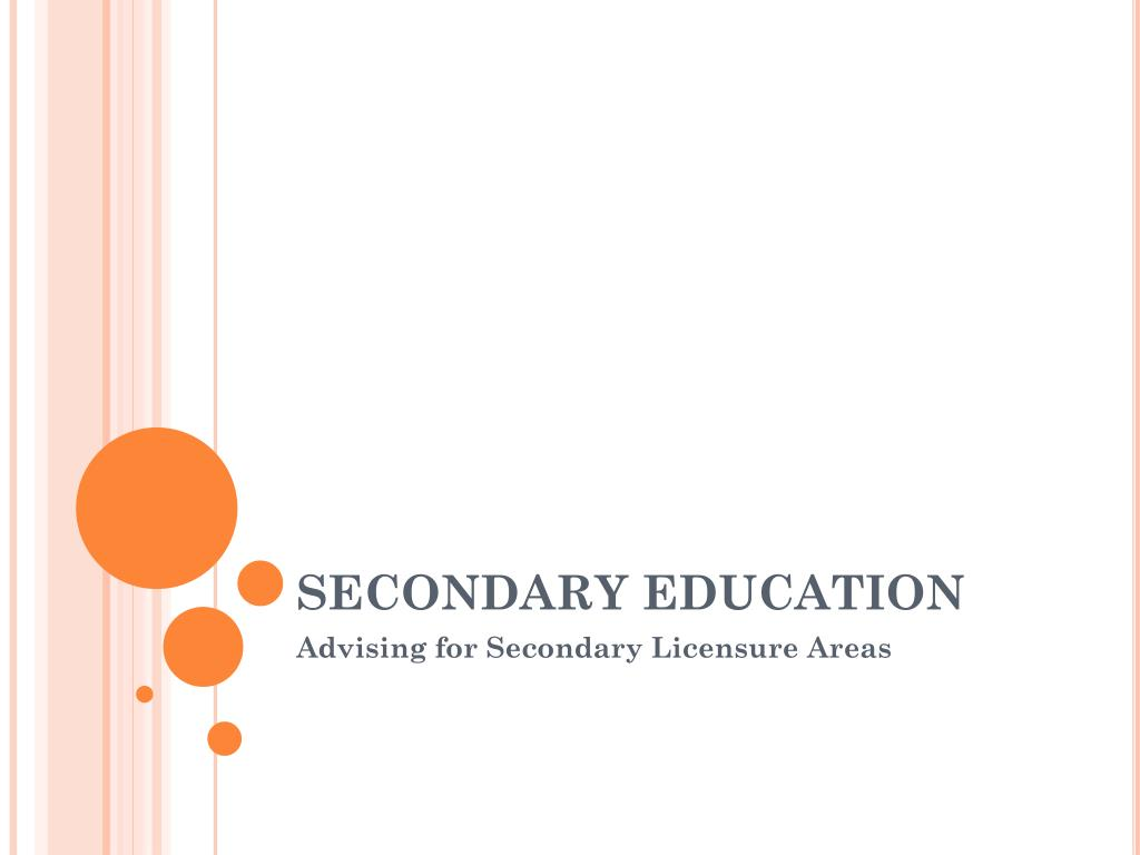 secondary education l.
