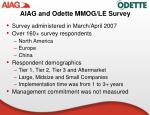 aiag and odette mmog le survey