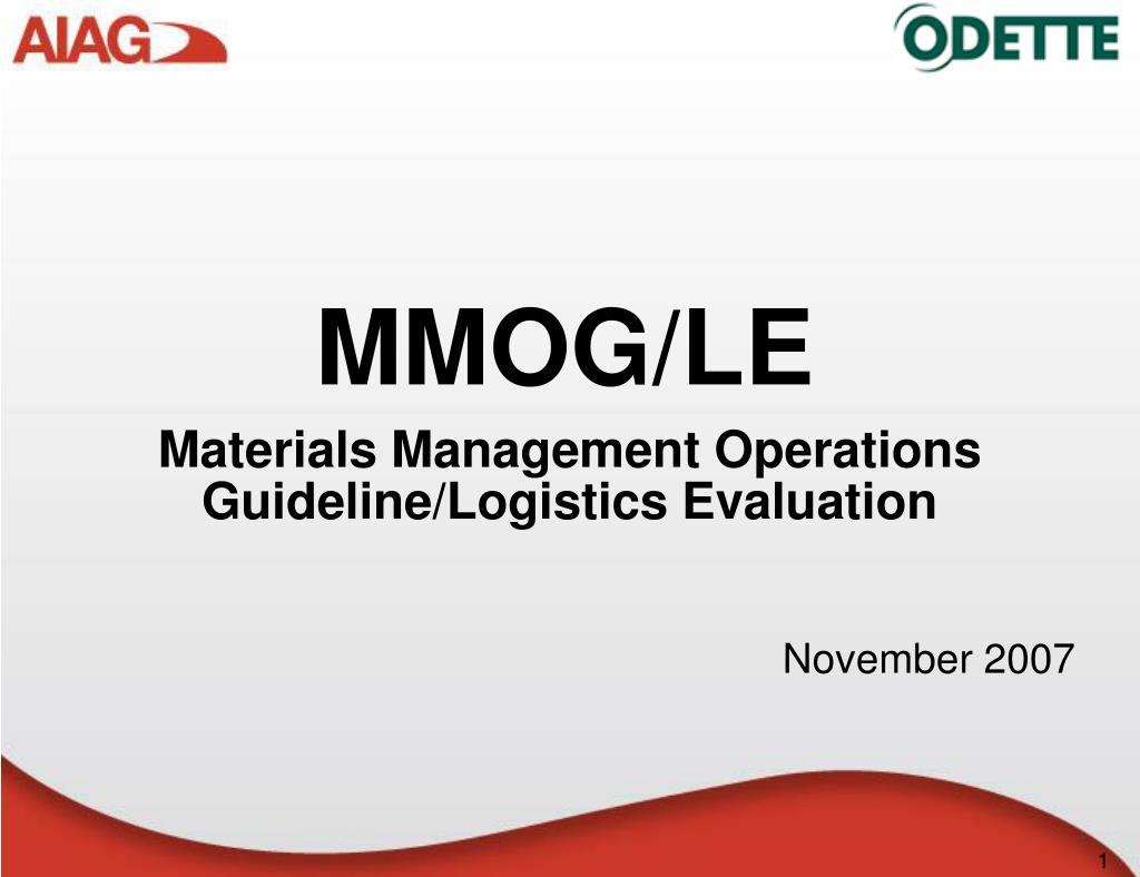 materials management operations guideline logistics evaluation l.