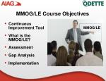 mmog le course objectives