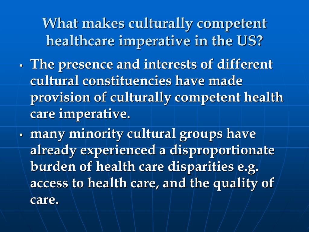What makes culturally competent