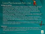 lesson plan language arts cont