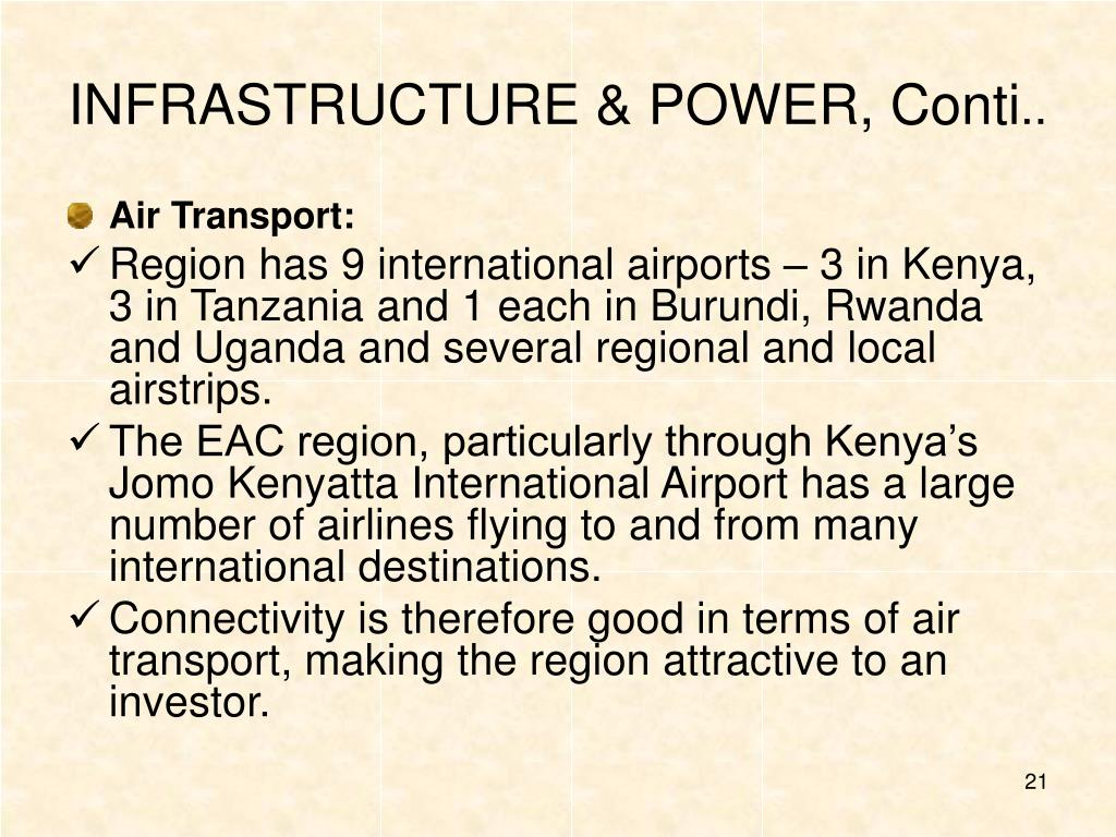 INFRASTRUCTURE & POWER, Conti