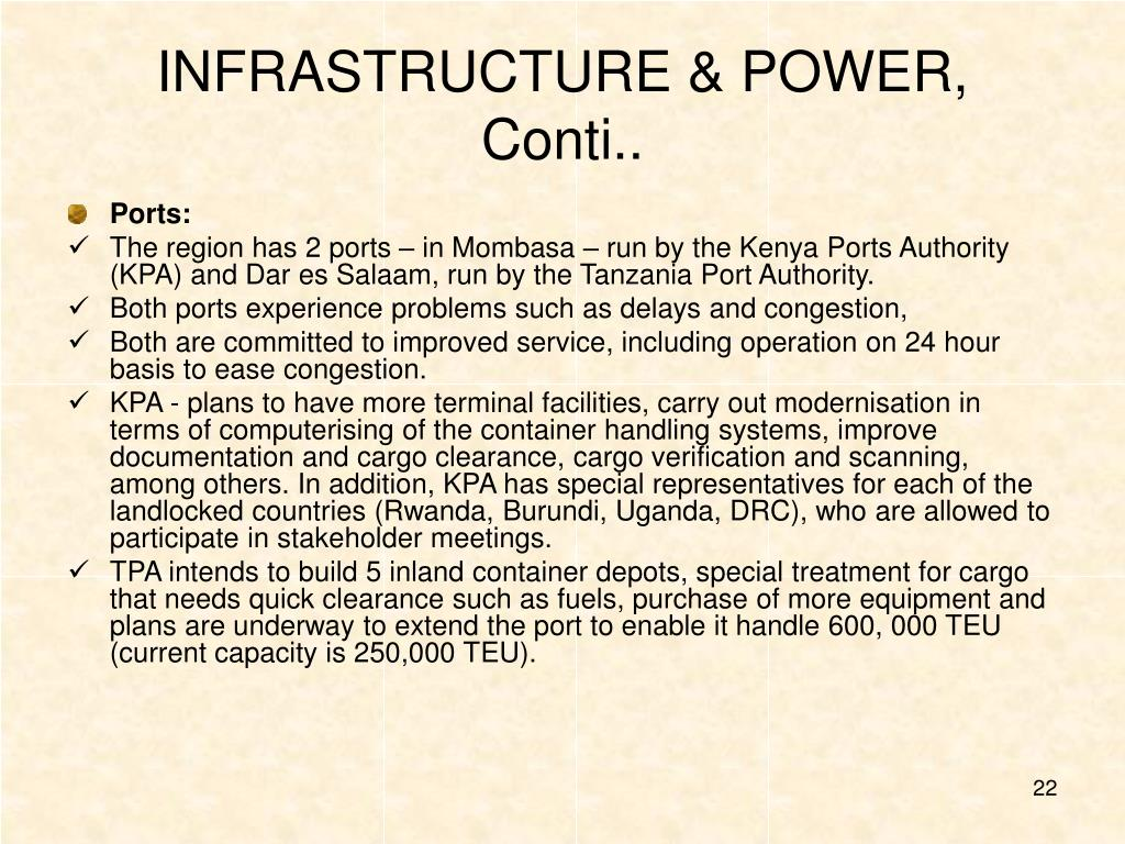 INFRASTRUCTURE & POWER, Conti..