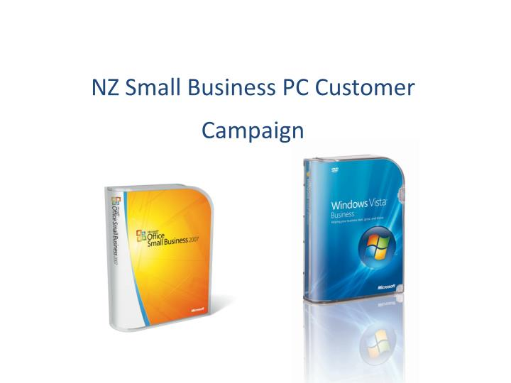 Nz small business pc customer campaign