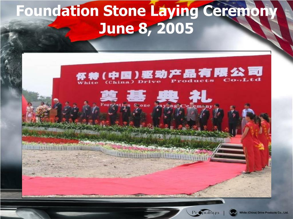 Foundation Stone Laying Ceremony   June 8, 2005