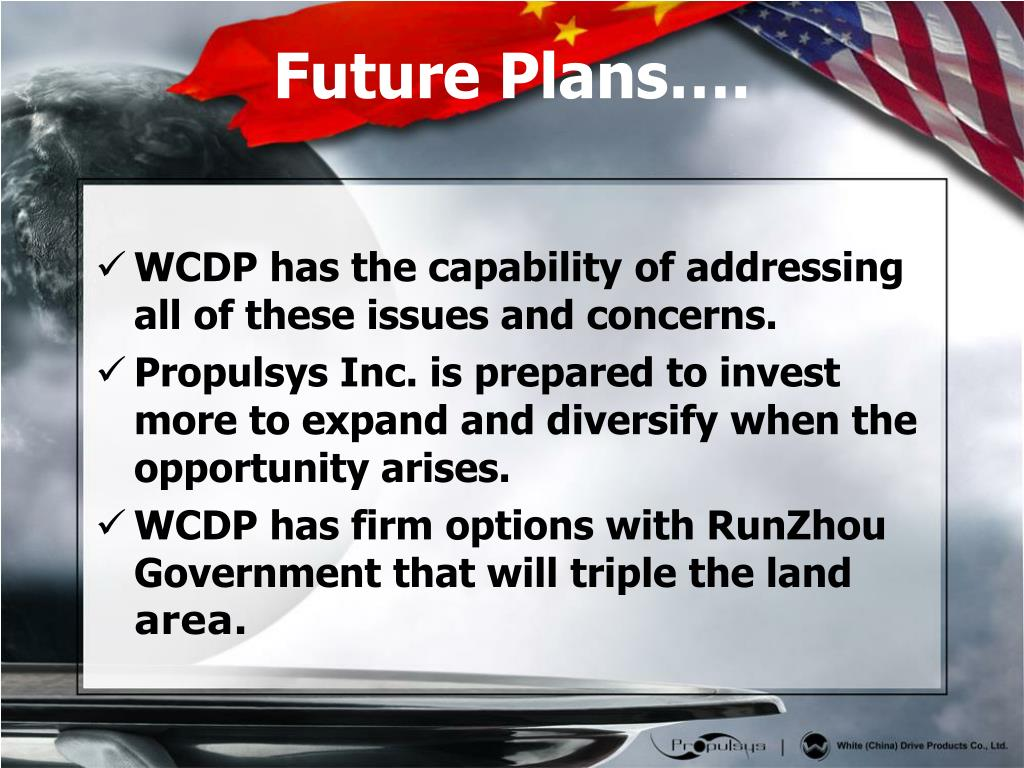 WCDP has the capability of addressing all of these issues and concerns.