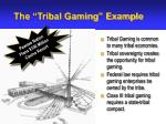 the tribal gaming example