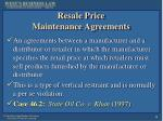 resale price maintenance agreements