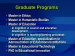 graduate programs23