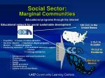 social sector marginal communities