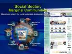 social sector marginal communities55