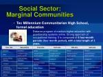 social sector marginal communities60