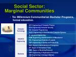 social sector marginal communities61