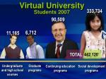 virtual university students 2007