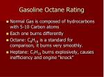 gasoline octane rating