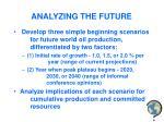 analyzing the future