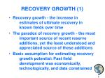 recovery growth 1