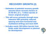 recovery growth 2