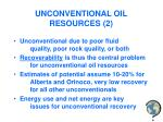 unconventional oil resources 2
