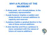 why a plateau at the maximum