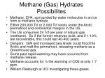 methane gas hydrates possibilites