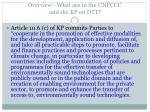 overview what are in the unfccc and the kp on dtt9