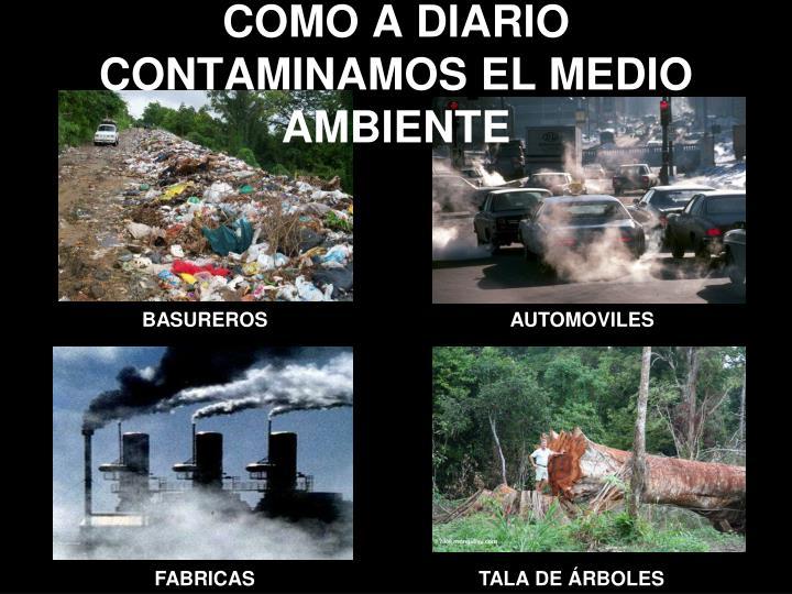 Como a diario contaminamos el medio ambiente